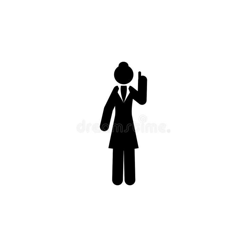 Businesswoman, explain icon. Element of businesswoman icon. Premium quality graphic design icon. Signs and symbols collection icon. For websites, web design vector illustration