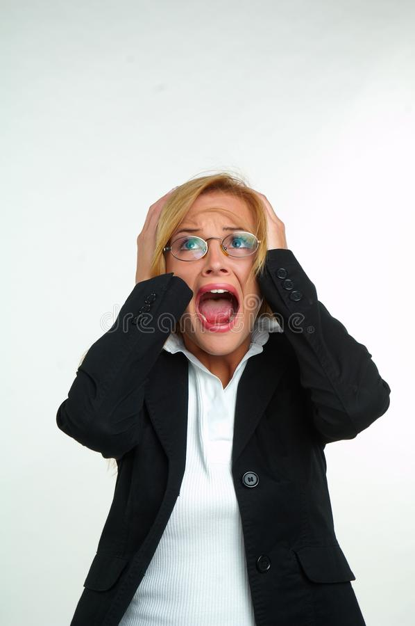 Download Businesswoman And Fear Stock Photo - Image: 29423700