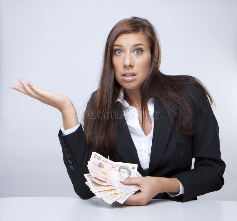 Download Businesswoman Fighting About The Money Stock Image - Image: 12830035
