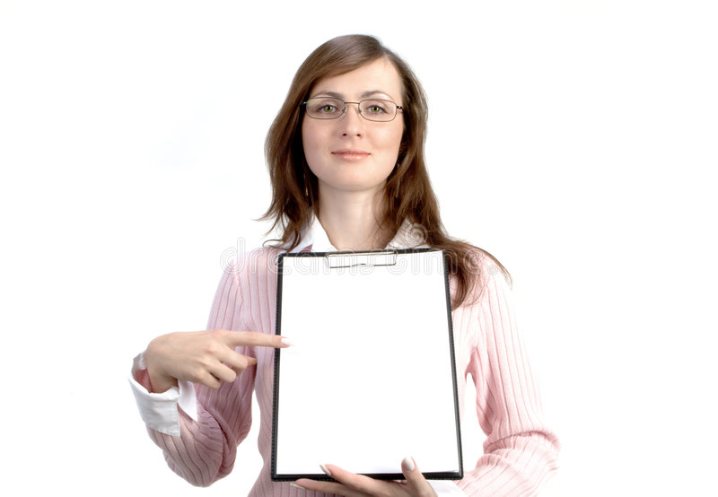 Businesswoman With Files royalty free stock photography