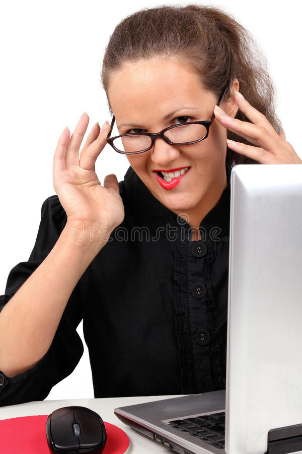 Download Businesswoman Flirting On A Workplace Royalty Free Stock Image - Image: 14567356