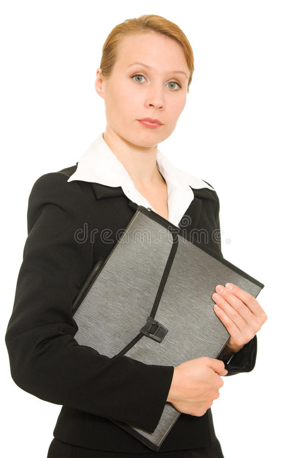 Download Businesswoman with folder stock photo. Image of fashion - 21648238