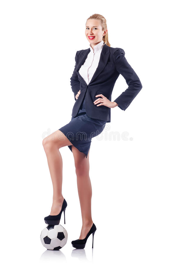 Download Businesswoman With Football Stock Photo - Image of elegant, executive: 26630414