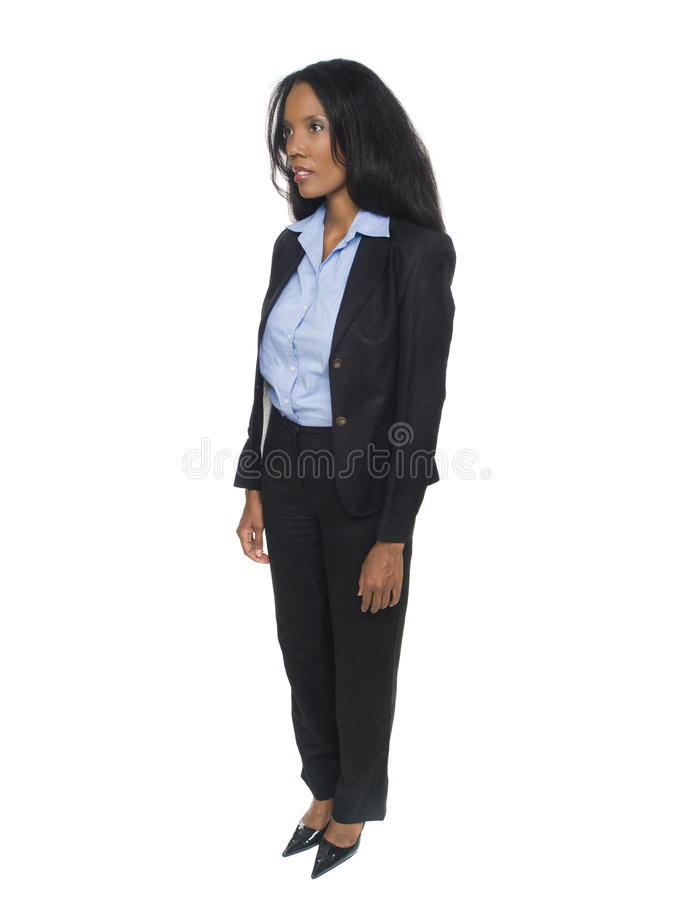 Businesswoman - front view royalty free stock photos