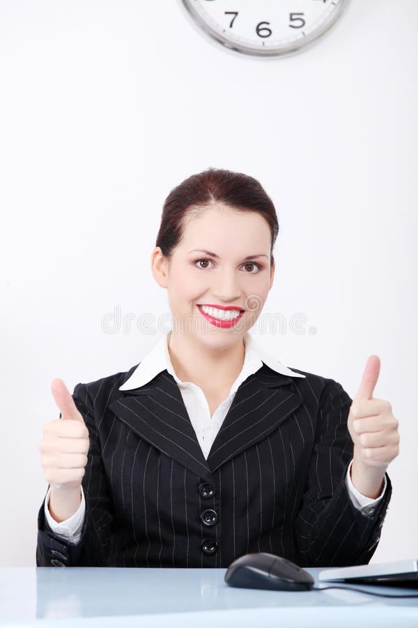Download Businesswoman Gesturing Okay Sign. Stock Photo - Image: 21890674