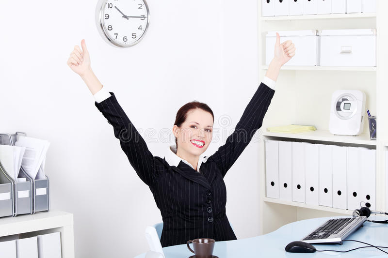 Download Businesswoman Gesturing Okay Sign. Royalty Free Stock Photography - Image: 21890687