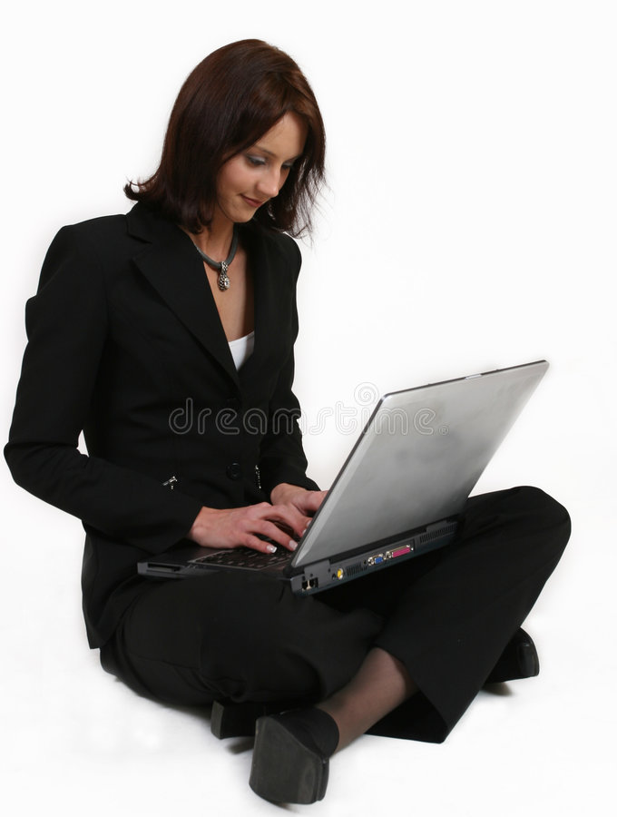 Download Businesswoman Giving All Her Attention To Her Work Stock Photo - Image of computer, glomour: 212070