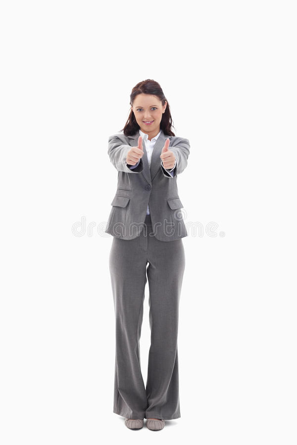 Download Businesswoman Giving Her Agreement Stock Image - Image: 23011815