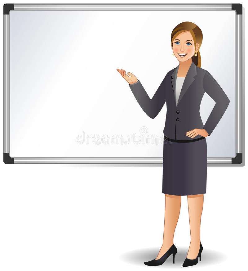 Download Businesswoman Giving A Presentation Stock Vector - Illustration of manager, feminine: 25473059