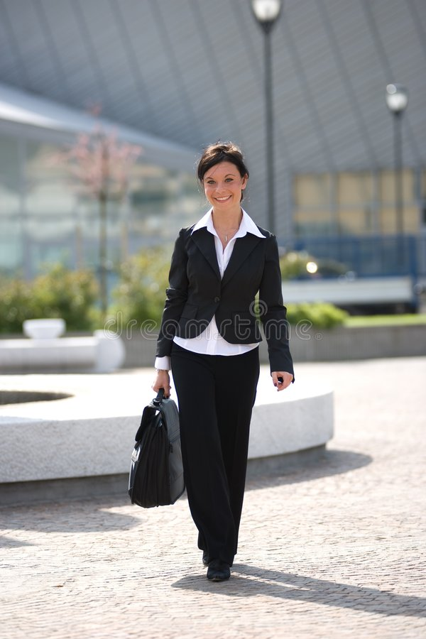 Free Businesswoman Going To Office Royalty Free Stock Images - 5032159