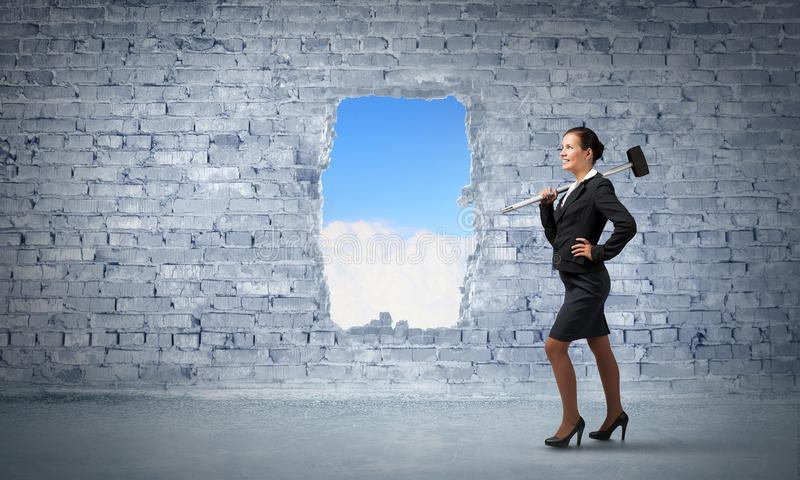 Making your way in business. Mixed media stock images