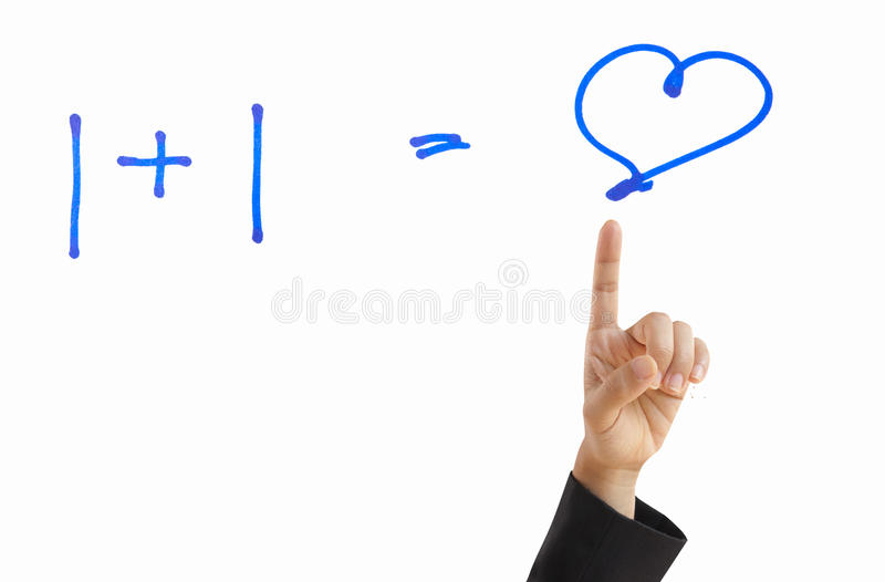 Businesswoman Hand Showing Wisdom Love Stock Images