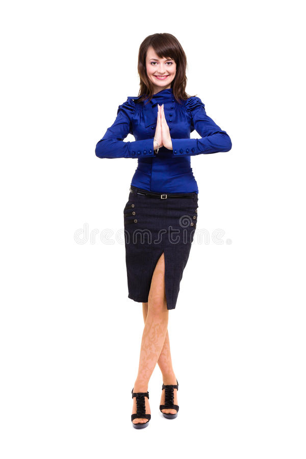 Download Businesswoman With Hands In Prayer Royalty Free Stock Photos - Image: 30067508
