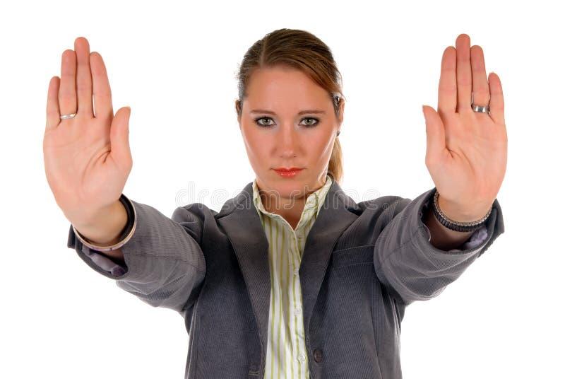 Businesswoman Hands Stop Stock Photos