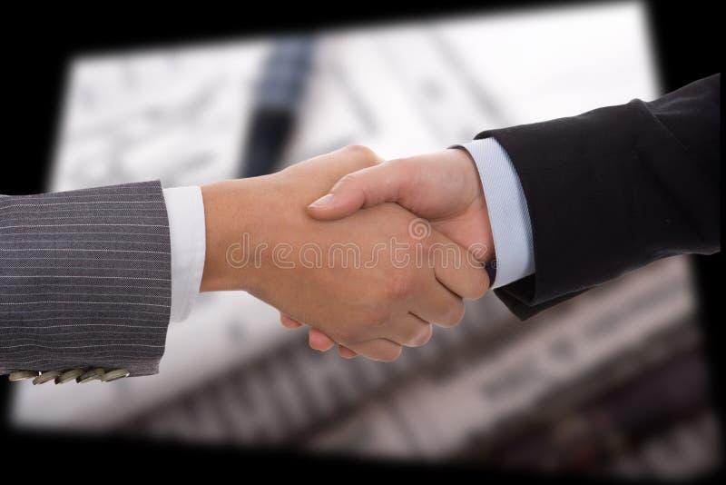 Businesswoman handshake royalty free stock photography