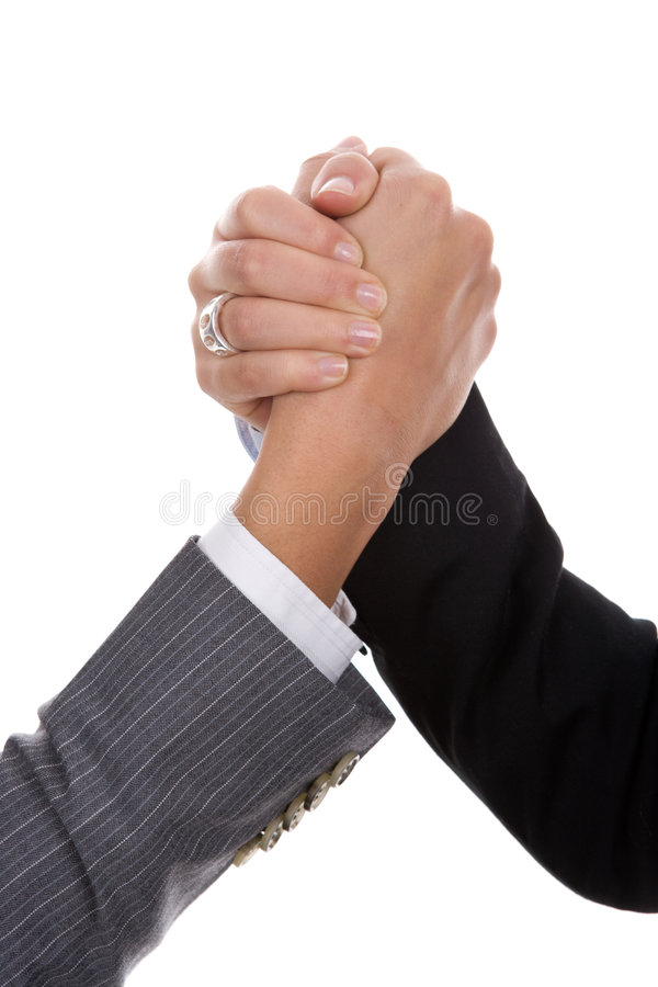 Businesswoman handshake royalty free stock photos