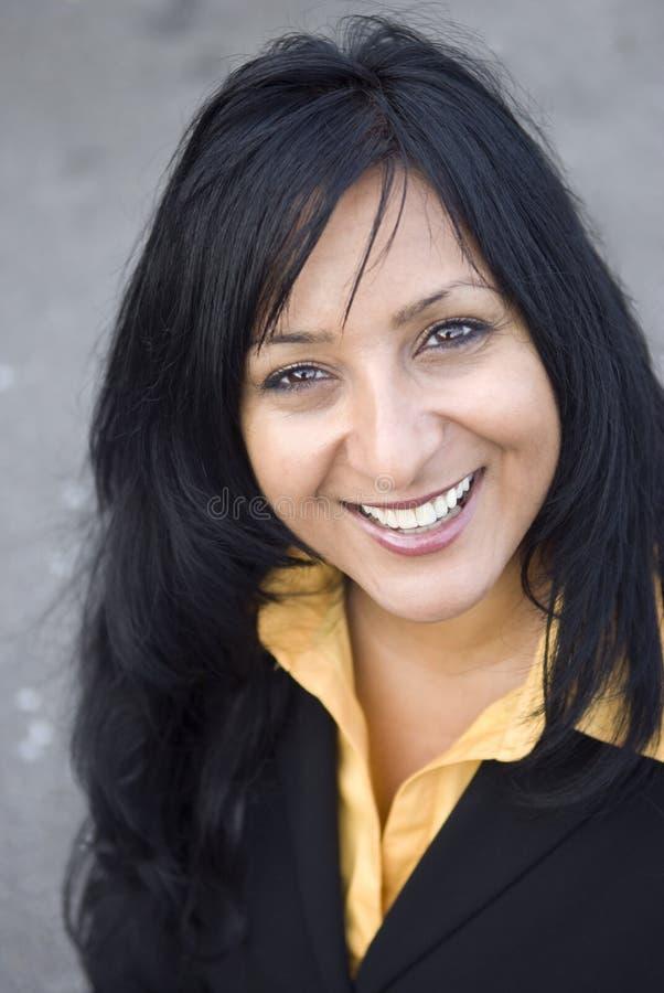 businesswoman happy smiling στοκ εικόνα