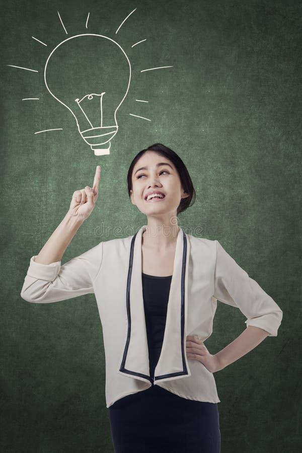 Businesswoman having an idea royalty free stock image