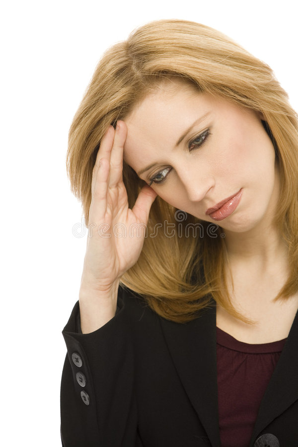 Download Businesswoman With Headache Stock Photo - Image of gestures, health: 2270444