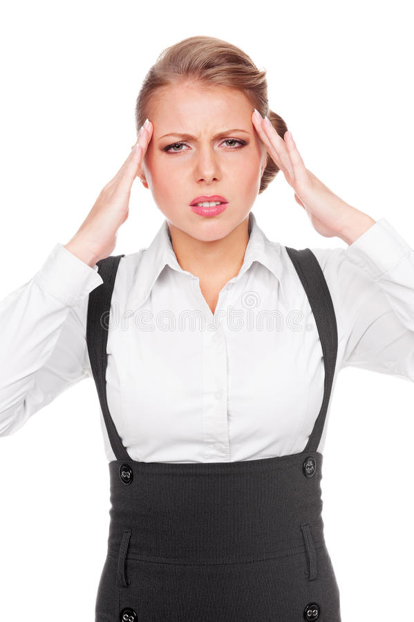 Download Businesswoman With Headache Stock Image - Image: 27172601