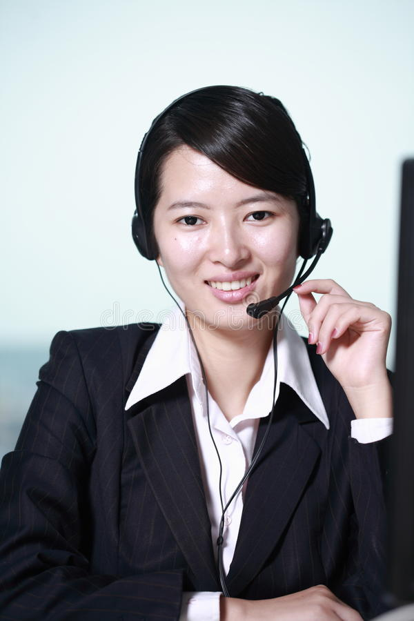 Businesswoman With Headset Stock Photography
