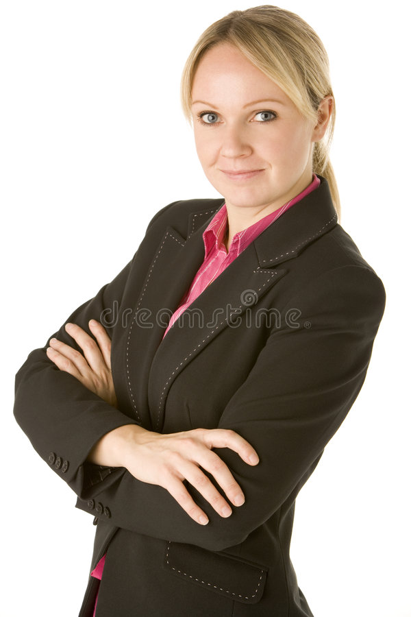 Businesswoman With Her Arms Folded.  stock images