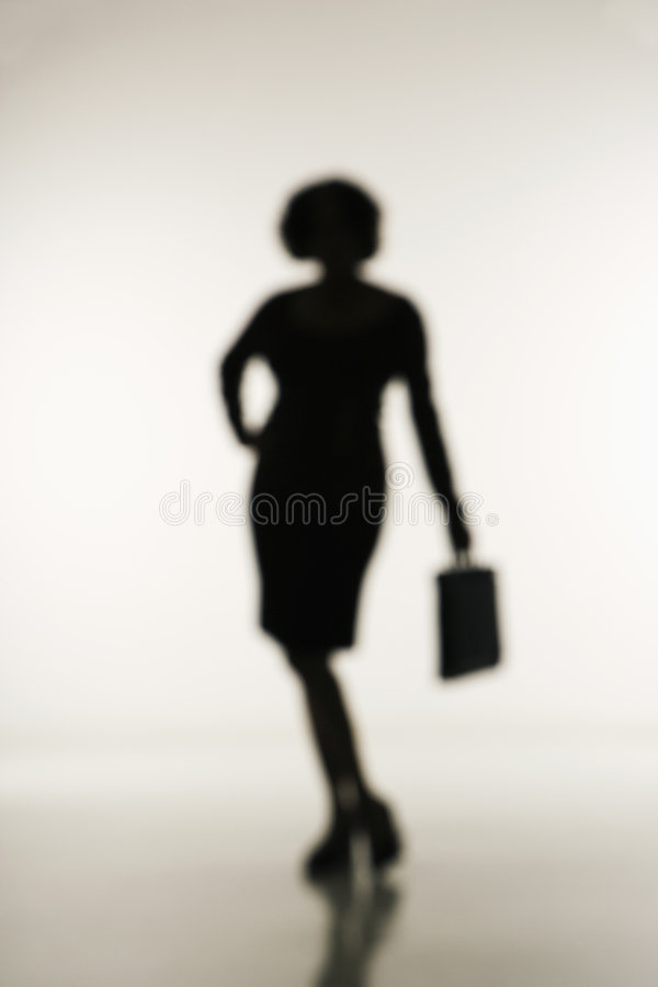 Businesswoman holding briefcase. stock image
