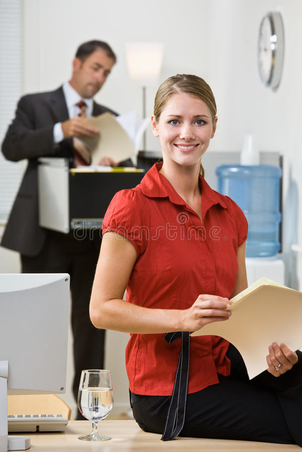 Free Businesswoman Holding File Folder Royalty Free Stock Image - 17052726