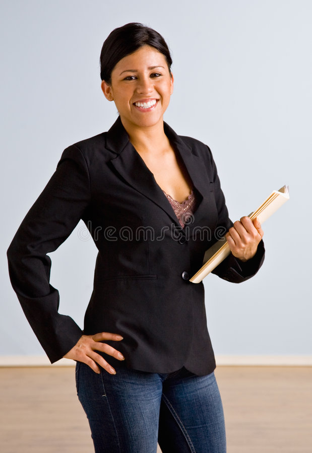 Free Businesswoman Holding File Folders Stock Photography - 7682512