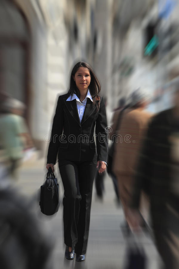 Download Businesswoman In A Hurry Royalty Free Stock Photos - Image: 9444618
