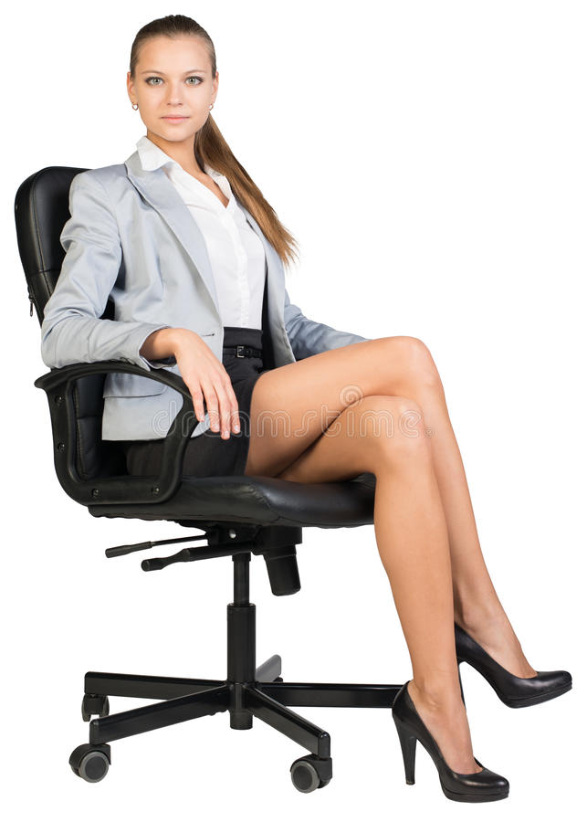 Free Businesswoman In Office Chair With Straight Back Stock Photos - 49293343