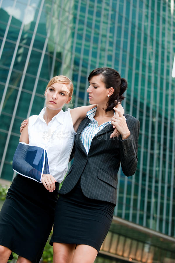 Download Businesswoman With Injured Arm Stock Image - Image: 11925879