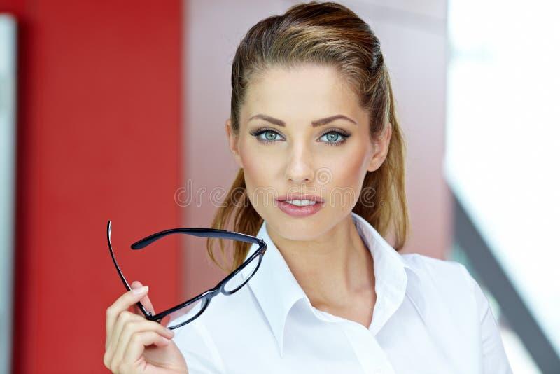 Businesswoman Inside A Modern House Stock Image