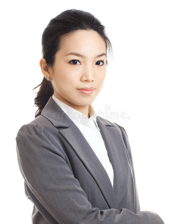 Businesswoman. Isolated on white royalty free stock photos