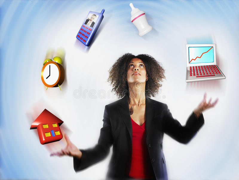 Download Businesswoman Juggling Responsibilities Royalty Free Stock Photography - Image: 29657307