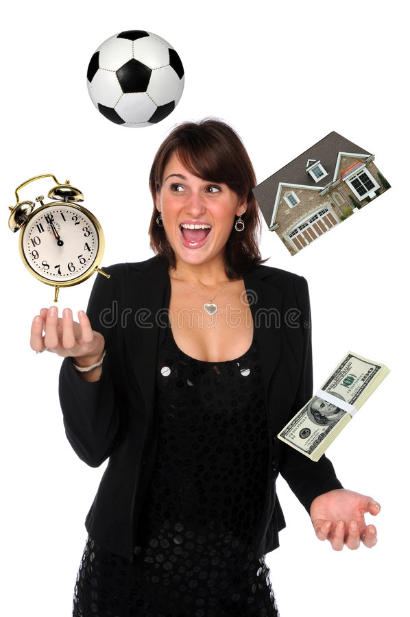 Download Businesswoman Juggling Responsibilities Stock Image - Image: 7290725