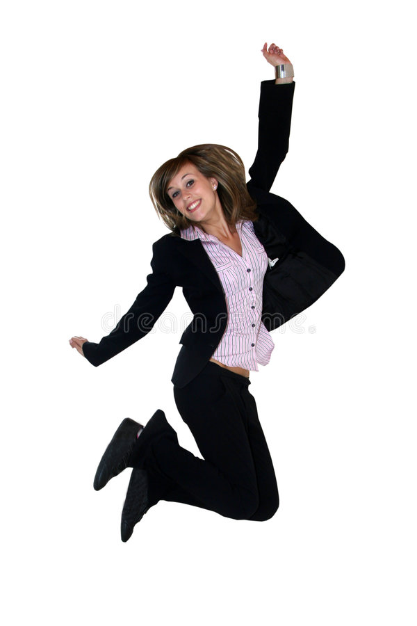 Download Businesswoman jumping stock image. Image of beautiful - 5415739
