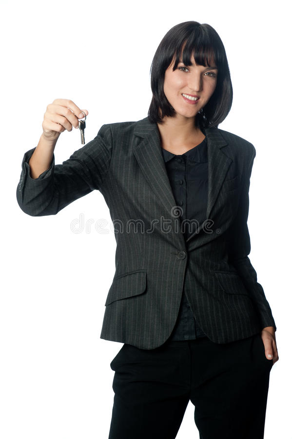 Download Businesswoman with Key stock image. Image of suit, person - 9973331