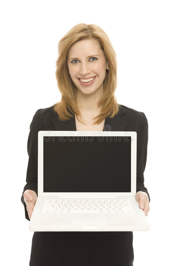 Download Businesswoman with laptop stock photo. Image of portable - 2277088