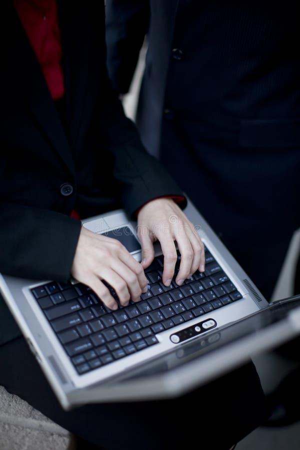 Businesswoman laptop stock photos