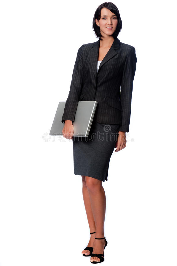 Download Businesswoman with Laptop stock image. Image of slim, beautiful - 9410745