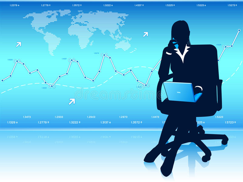 Businesswoman with laptop royalty free stock photo