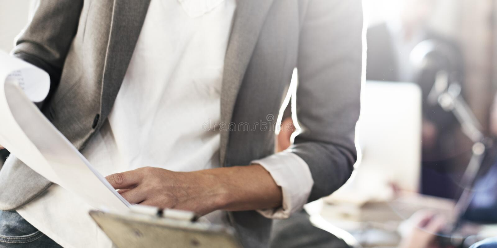 Businesswoman Leader Colleague Working Concept.  royalty free stock photos