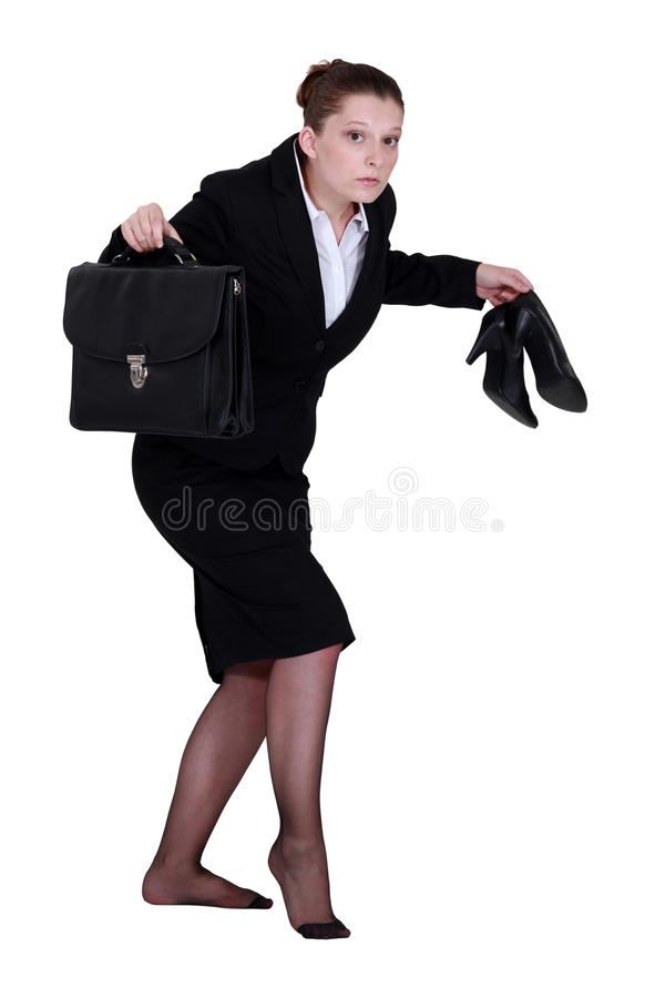 Download A Businesswoman Leaving Quietly. Stock Image - Image: 35743801