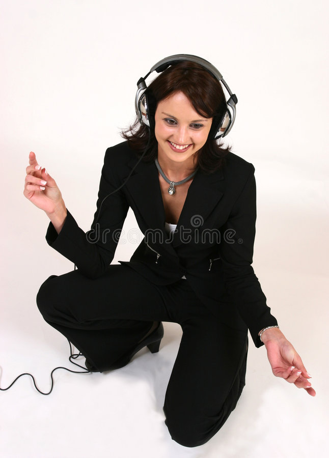 Free Businesswoman Listening To Her Favorite Music Royalty Free Stock Images - 295239