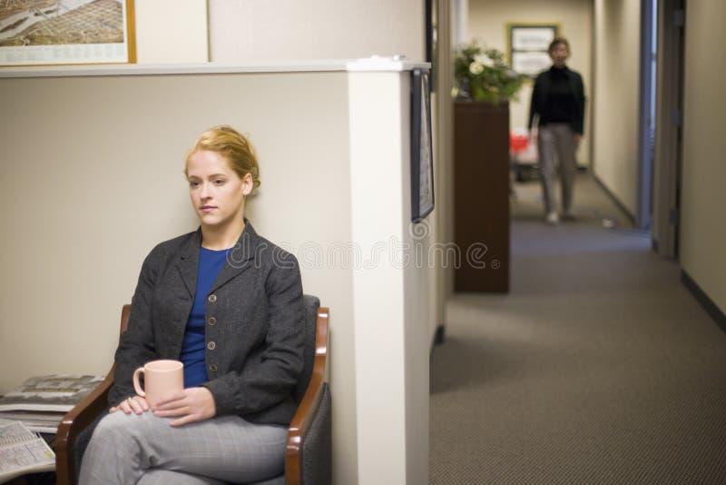 businesswoman lobby office waiting στοκ φωτογραφία