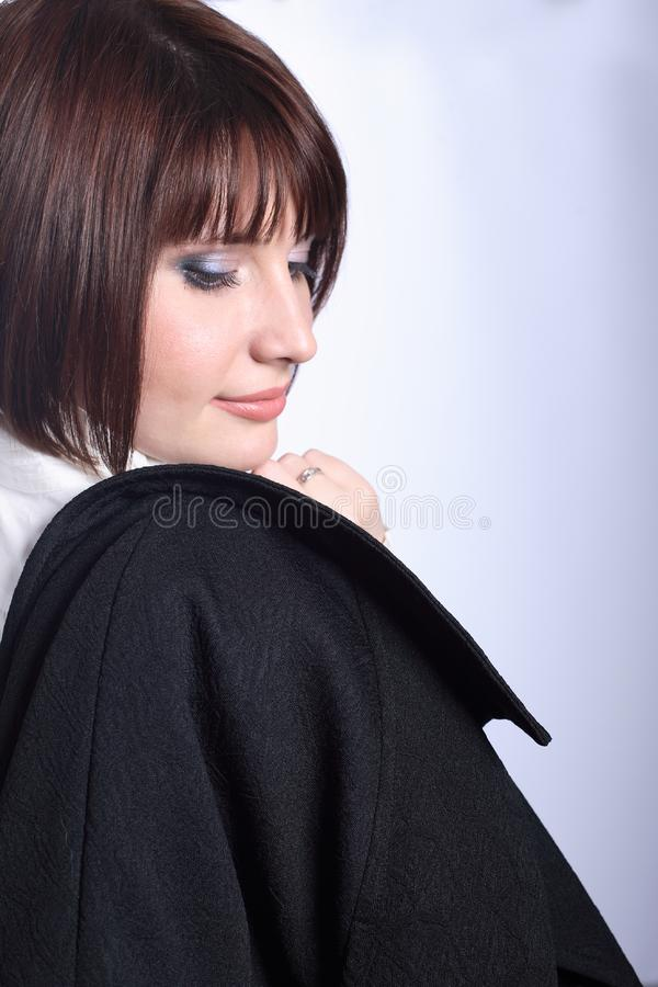 Download Businesswoman Looking Over Right Shoulder Stock Image - Image: 8871417