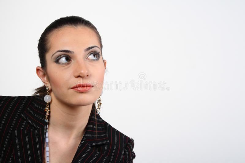 Download Businesswoman looking up stock photo. Image of face, close - 17404998