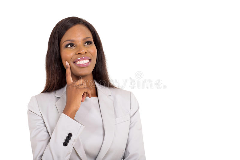 Businesswoman looking up royalty free stock photos