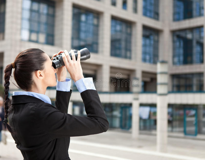 Download Businesswoman Looks Into The Future Stock Image - Image: 19693741